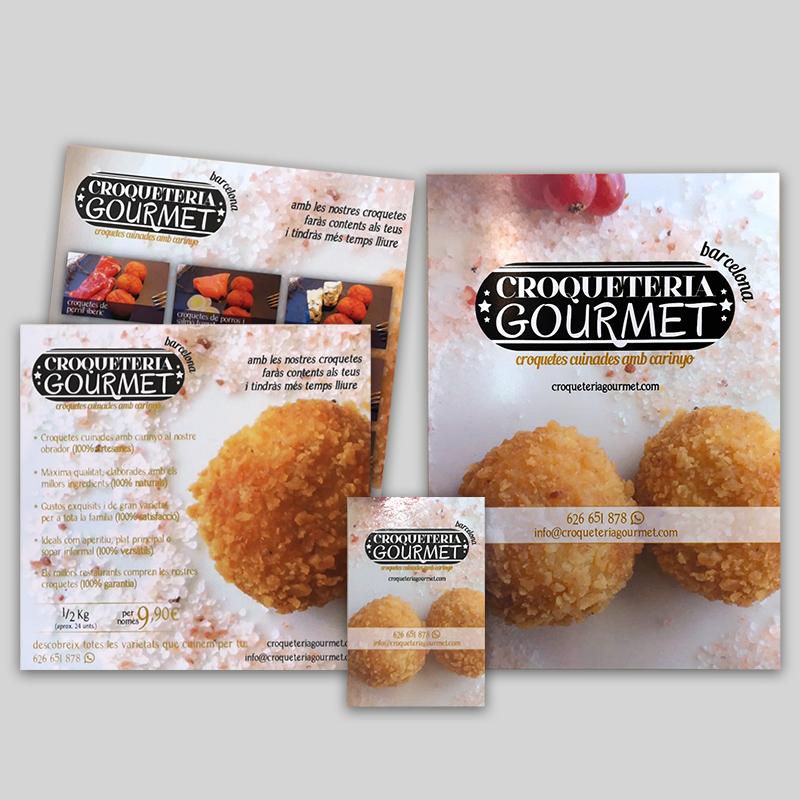 Croqueteria Gourmet Barcelona - Folletos, tarjeta...
