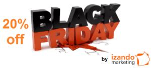 Black Friday Izando Marketing 20 % de descuento